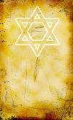 Jewish Yom Kippur Grunge Background With David Star
