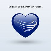 stock photo of south american flag  - Love Union of South American Nations symbol - JPG