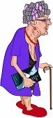 stock photo of negligee  - A cartoon of a bent - JPG