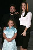 HOLLYWOOD - JULY 11: Kevin Smith with Jennifer Schwalbach Smith and Harley Quinn Smith at the premie