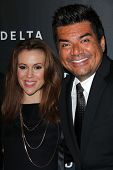 Alyssa Milano, George Lopez at Delta Airline's Celebration of LA's Music Industry, Getty House, Los