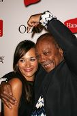 HOLLYWOOD - AUGUST 27: Rashida Jones and Quincy Jones at the TV Guide Emmy After Party at Social Aug