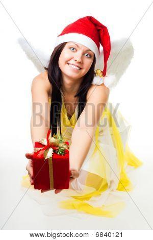Anjo com asas brancas dar de presente