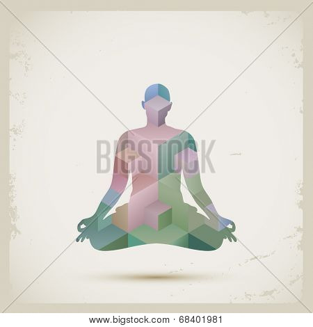 Meditation, eps10 vector