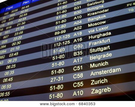 Airport Delay Sign, Flight Schedule, Airline