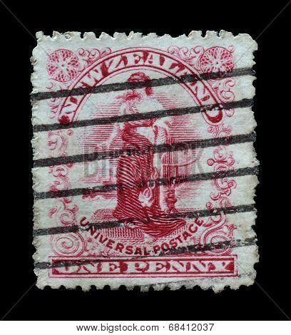 Zealandia stamp 1901