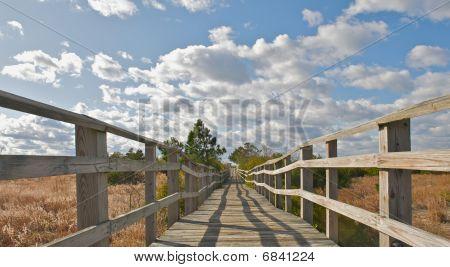 Bridge leading to the beach.