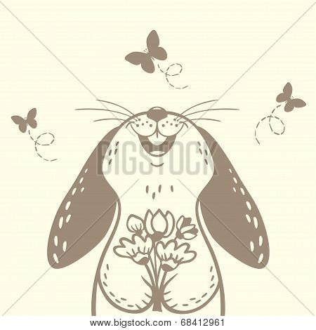bunny cute silhouette