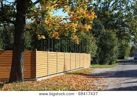 Wooden Fence In The Coutryside