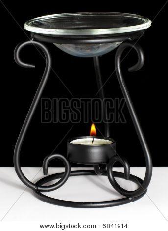 Vela de aceite caliente