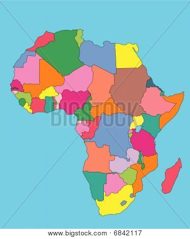 Africa with Editable Countries