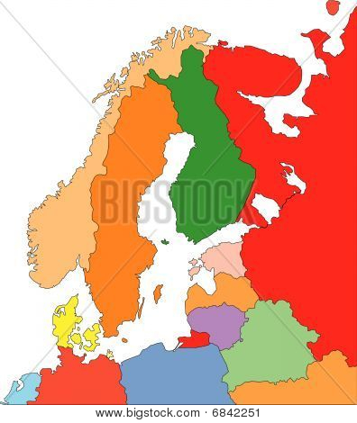 Scandanavia with Editable Countries