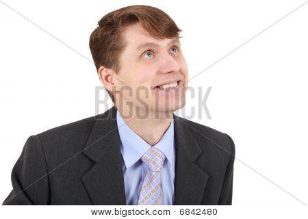 Smiling Businessman Isolated On White Background