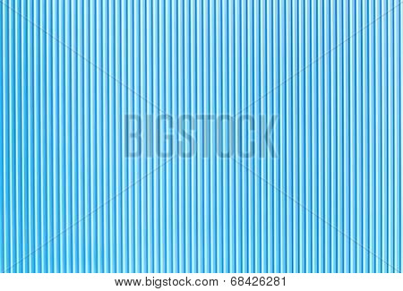 blue corrugated surface of the metal plate