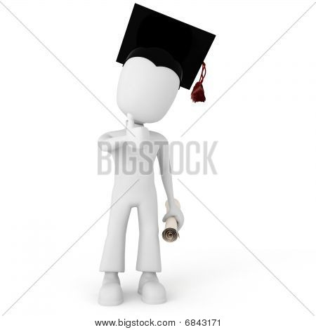 3d man college happy for graduating