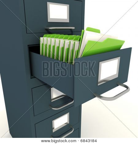 3d dossier holder close-up isolated on white