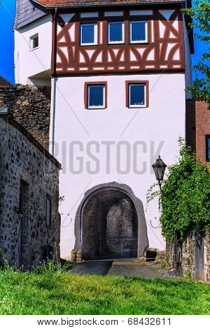 Main Gate of the city wall at the banks of the Main in Hanau-Steinheim, Germany
