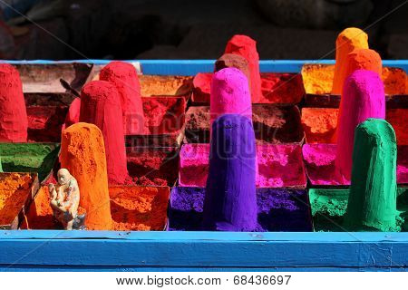 Colored  Indian Sand (gulal) for Holi
