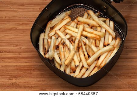 French Fries In Fryer