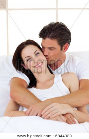 Intimate Couple Hugging