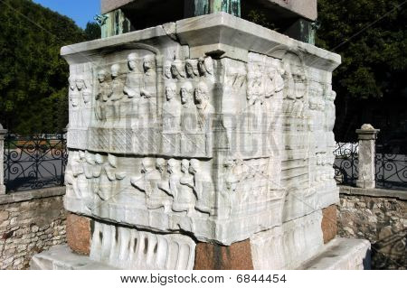 Figures On The Base Of Egypt Obelisk, Istanbul
