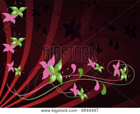 Flower decoration for the design