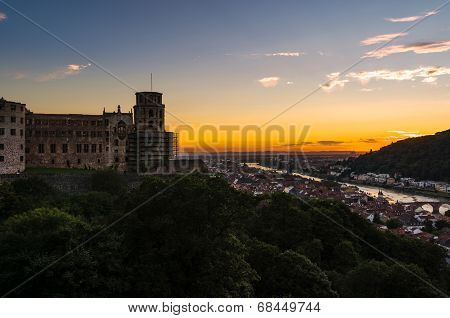Sunset over Heidelberg