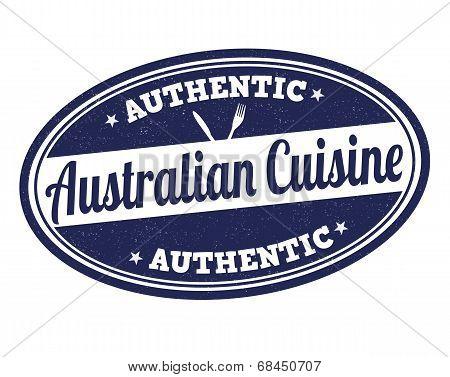 Australian Cuisine Stamp
