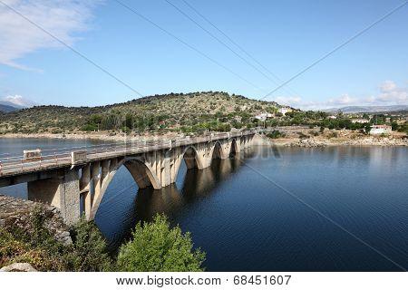 Bridge Over The Burguillo Reservoir, Spain