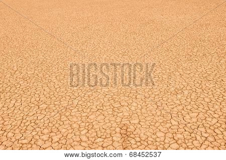 Closeup Of Dry Soil Texture