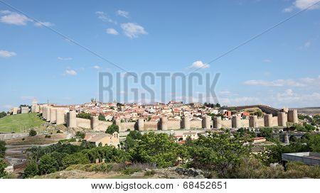 Medieval Spanish Town Avila, Spain