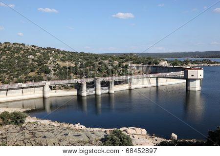Dam At River Adaja. Avila, Spain