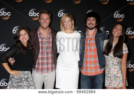 LOS ANGELES - JUL 15:  Chloe Wepper, Jake McDorman, Analeigh Tipton, Nicolas Wright, Jada Catta-Preta at the ABC July 2014 TCA at Beverly Hilton on July 15, 2014 in Beverly Hills, CA