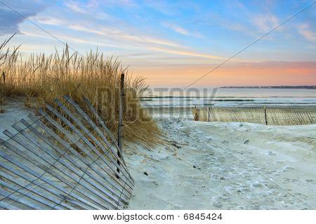 Strand sunrise