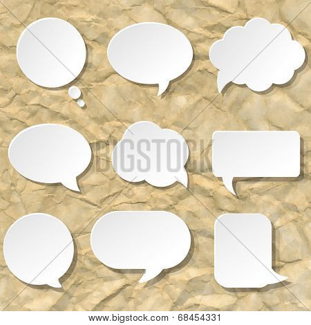 Speech Bubble Set, Vector Illustration