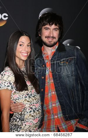 LOS ANGELES - JUL 15:  Jade Catta-Preta, Nicolas Wright at the ABC July 2014 TCA at Beverly Hilton on July 15, 2014 in Beverly Hills, CA