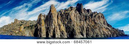 Karadag Mountain In Eastern Crimea.