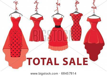 Red Fashion Women's  Dresses Hang On Ribbon.big Sale