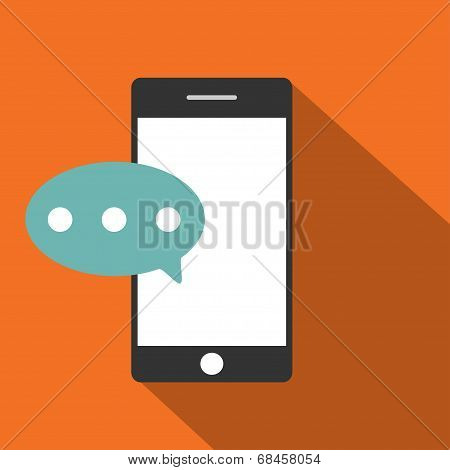 Mobile phone flat icon