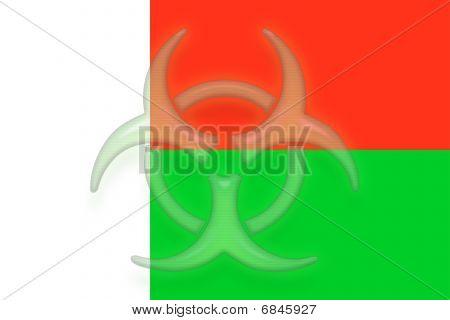 Flag Of Madagascar Health Warning