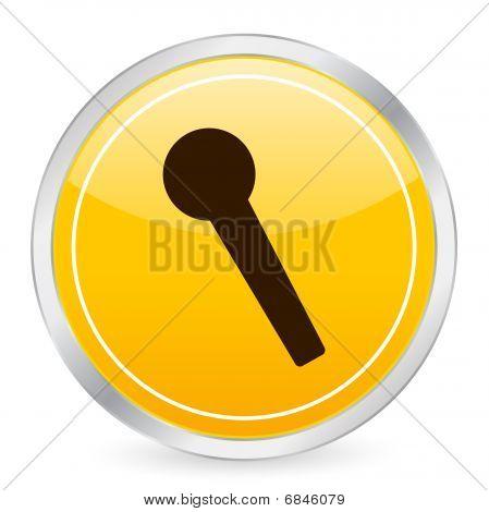 Microphone Yellow Circle Icon
