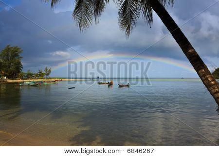 Rainbow On Ko Phi Phi Island.