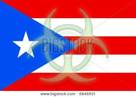 Flag Of Puerto Rico Health Warning