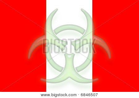 Flag Of Peru Health Warning