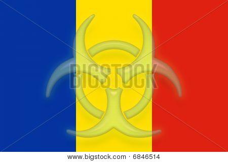 Flag Of Romania Health Warning
