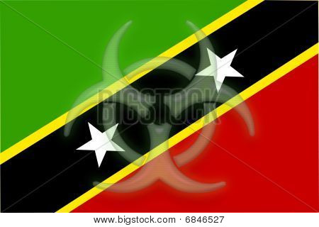 Flag Of Saint Kitts And Nevis St. Health Warning