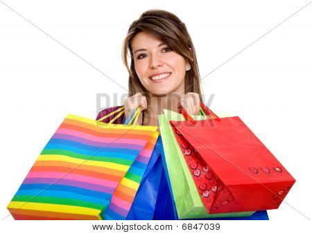 Shopping Woman Isolated