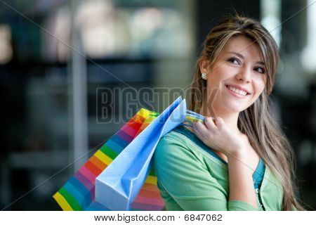 Shopping Woman At A Mall