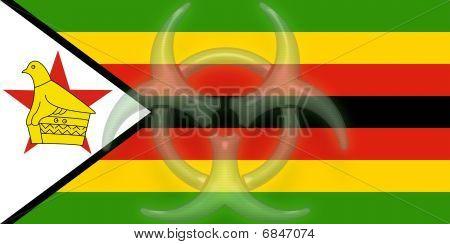 Flag Of Zimbabwe Health Warning