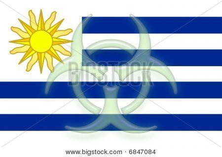 Flag Of Uruguay Health Warning